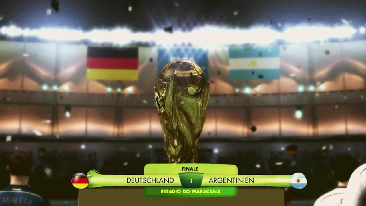 fifa wm brasilien 2014 deutschland gegen argentinien in. Black Bedroom Furniture Sets. Home Design Ideas