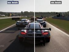 Project Cars: Minimale Details vs. Maximale Details im Video