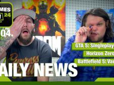 Horizon Zero Dawn, PS4K, GTA 5 Singleplayer DLC - Video-News vom 21. April