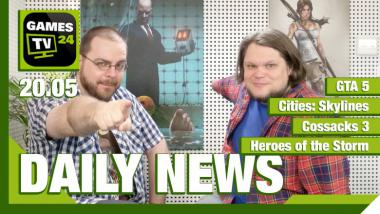 Video-Newsüberblick: Cities Skylines, GTA 5, Cossacks 3, Heroes of the Storm - Games TV 24 Daily