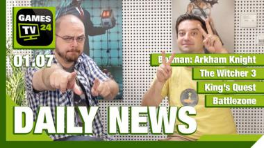 Der Video-Newsüberblick: Arkham Knight, Witcher 3, King's Quest - Games TV 24 Daily