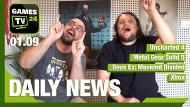 Video-Newsshow: Metal Gear Solid 5, Uncharted 4, Deus Ex, Witcher 3 und mehr