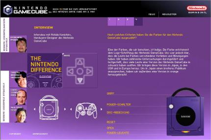 Neue GameCube Homepage