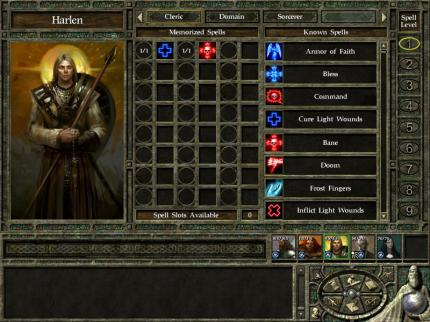 Icewind Dale 2 - Erste Interface Screenshots