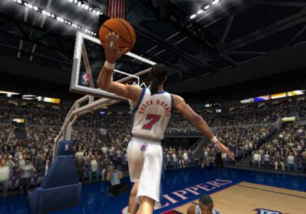 Screens von Rapper Busta Rhymes in NBA Live 2003