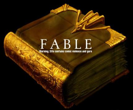 Interaktive Fable Homepage