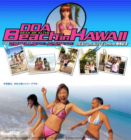 Dead or Alive Online Festival auf Hawaii