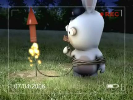 Rayman Raving Rabbids: Bunnies cant play with Firework...