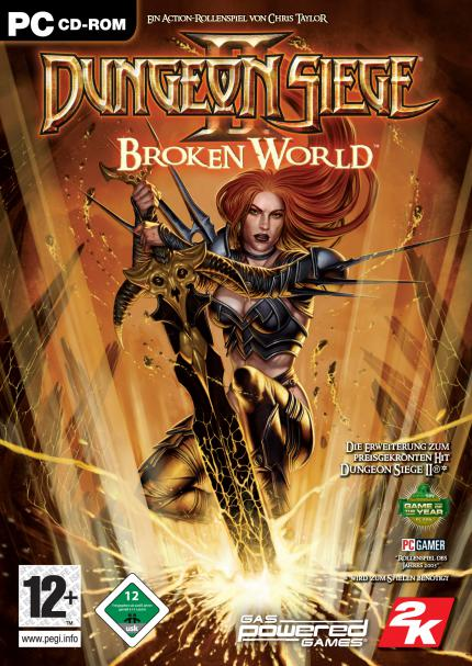 Dungeon Siege 2: Packshot und Screenshots