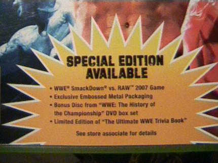 WWE Smackdown vs. RAW 2007: Special Edition der 360-Version?