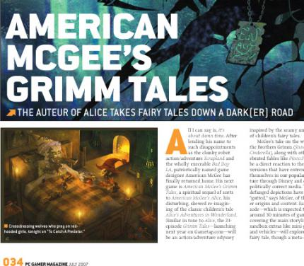 American McGee's Grimm Tales: Erste Artworks zur Versoftung