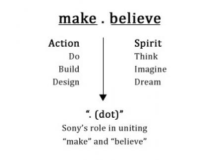Sony: Neuer Slogan: make.believe