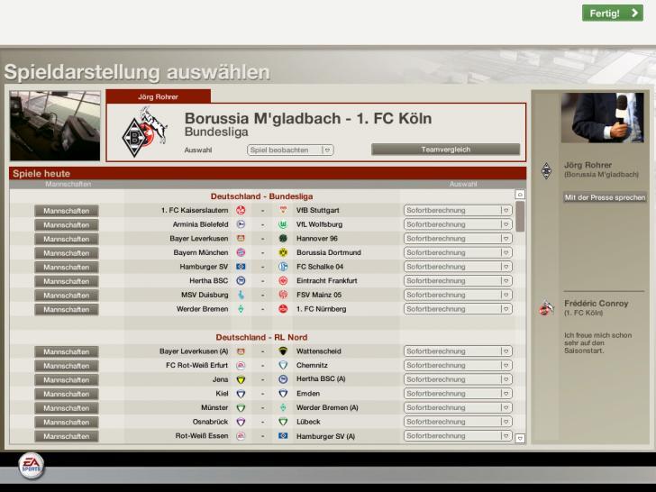 Fussball Manager 2006 Die Ersten Screenshots
