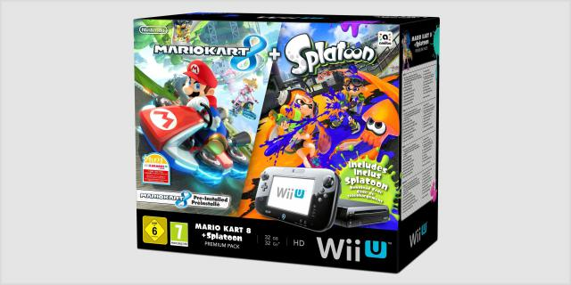 nintendo neues wii u bundle mit mario kart 8 und splatoon. Black Bedroom Furniture Sets. Home Design Ideas