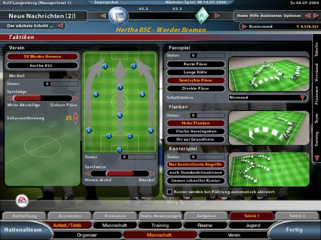 Fussball Manager 2005 Fussballmanager Das Beste Seiner