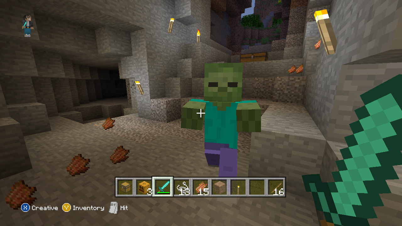 how to eat food in minecraft xbox 360