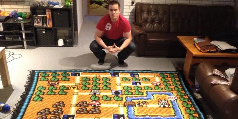 Kurios NintendoFan arbeitet 6 ½ Jahre an Super MarioTeppich