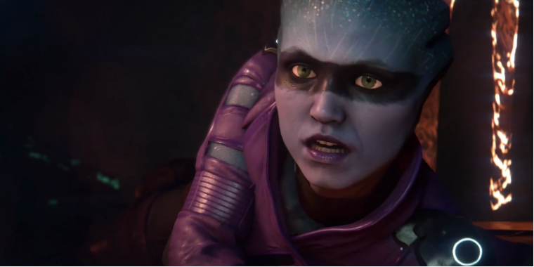 Mass Effect Andromeda: Peebee am Boden.